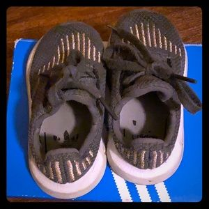 Adidas sneakers for toddler girl in size 5.